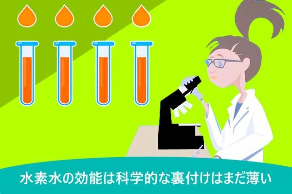 水素水の効能は科学的な裏付けはまだ薄い