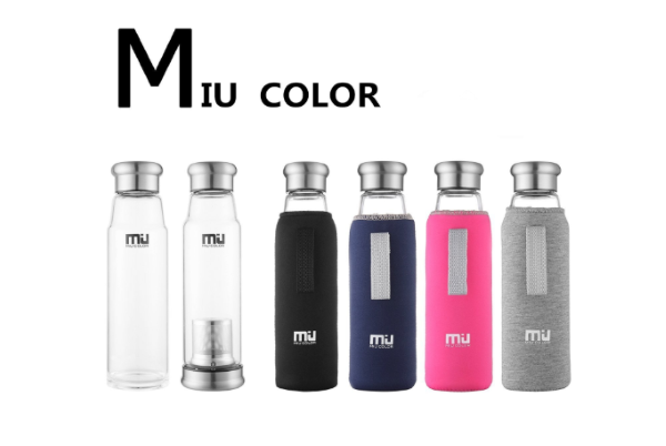 MIU COLORガラス水筒ボトル