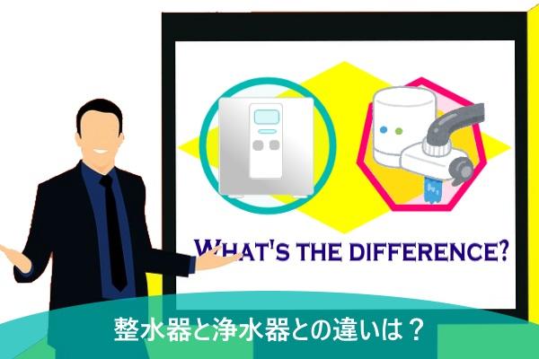 整水器と浄水器との違いは?