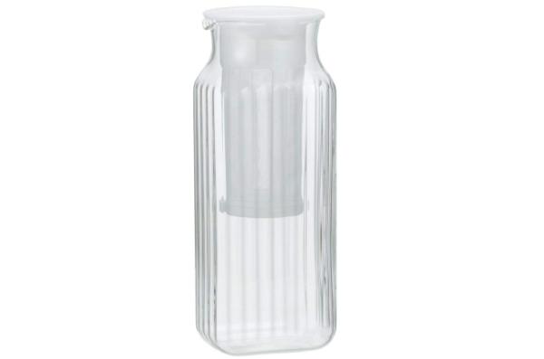耐熱ガラス角型サーバー 茶漉し付き /K296KF(iwaki)