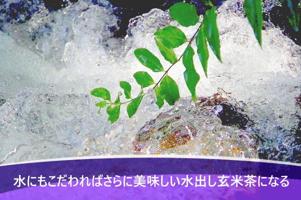 水にもこだわればさらに美味しい水出し玄米茶になる