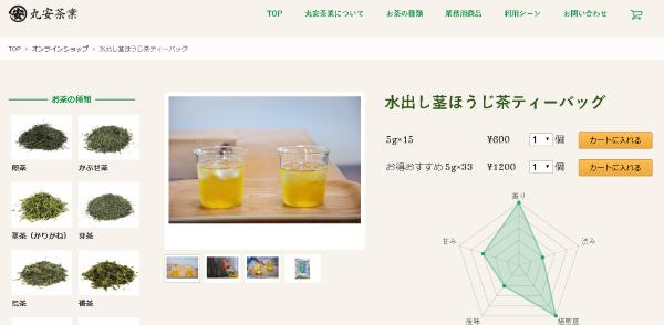 水出し茎ほうじ茶ティーバッグ(丸安茶業)