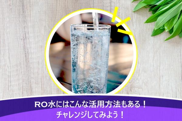 RO水にはこんな活用方法もある!チャレンジしてみよう!